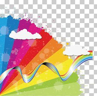 Rainbow Euclidean Cloud Icon PNG