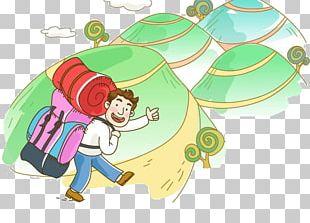 Mountaineering Cartoon Backpacking Tourism PNG
