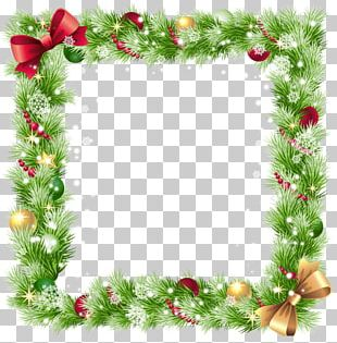 Square Christmas Border Element PNG