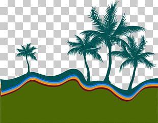 Beach Silhouette Arecaceae Illustration PNG