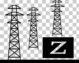 Electricity Electrical Substation Computer Icons Transmission Tower Electric Power Transmission PNG