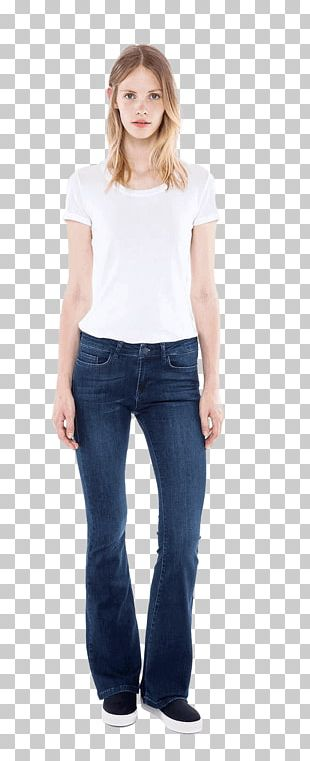 Jeans T-shirt Waist Denim Sleeve PNG