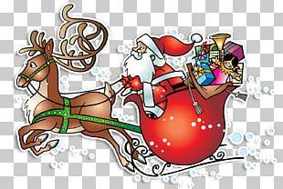 Reindeer Santa Claus Village Père Noël Christmas PNG