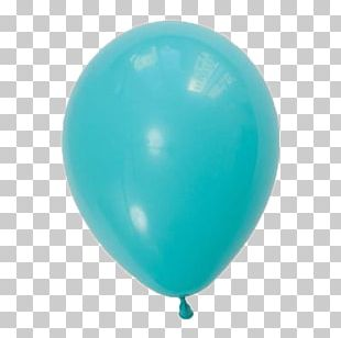Toy Balloon Robin Egg Blue Party PNG