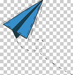 Airplane Paper Blue PNG