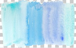 Blue Paintbrush Watercolor Painting PNG
