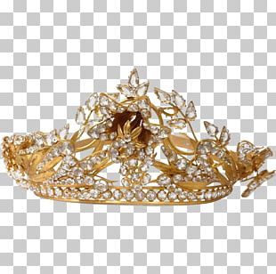 Crown Jewellery Tiara Brass Gold PNG