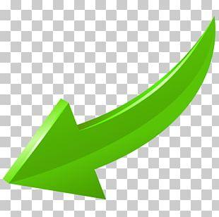 Arrow Green Curve Bottom Left PNG