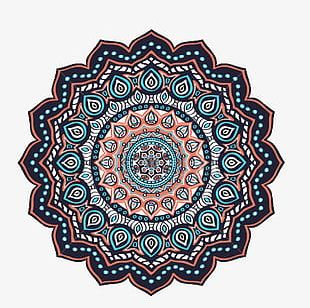 Decorative Patterns Of Islamic Flower Petals PNG
