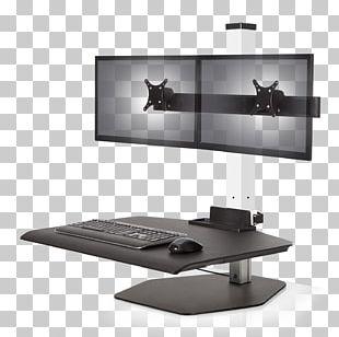Sit-stand Desk Multi-monitor Standing Desk Hewlett-Packard Monitor Mount PNG