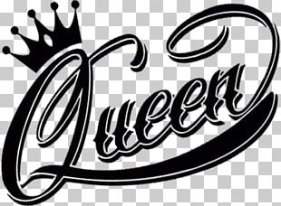 Logo Queen Black And White PNG