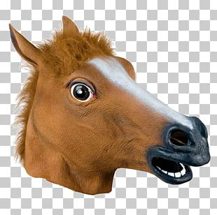 Horse Head Mask Latex Mask Costume Party PNG