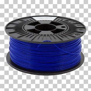 3D Printing Filament Polylactic Acid Acrylonitrile Butadiene Styrene Blue PNG