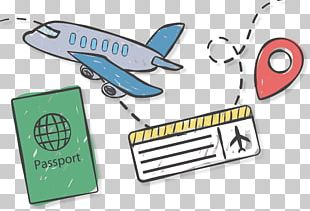Airplane Airline Ticket Travel Icon PNG