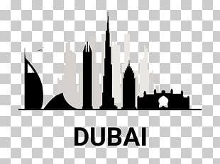 Burj Khalifa Skyline Line Art Silhouette Architecture PNG
