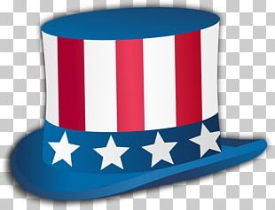 Uncle Sam Independence Day Top Hat PNG