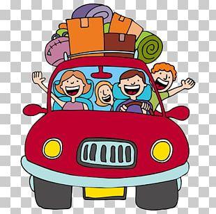 Vacation Road Trip Cartoon PNG