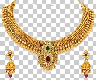 Earring Necklace Jewellery Gold Jewelry Design PNG