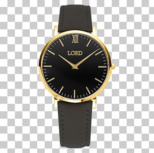 Watch Strap Leather Watch Strap Gold PNG