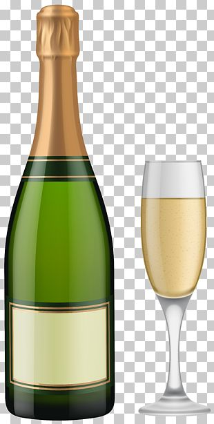Champagne Glass Sparkling Wine Bottle PNG