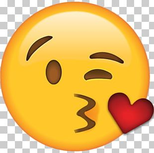 Emoji Kiss Smiley Flirting Love PNG