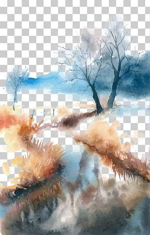 Watercolor Painting Landscape PNG