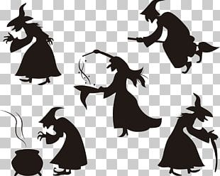 Halloween Witchcraft Silhouette PNG