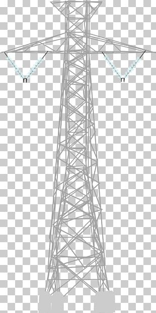 Electricity Overhead Power Line Transmission Tower Public Utility PNG