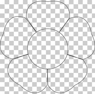 Petal Flower Template Printing PNG