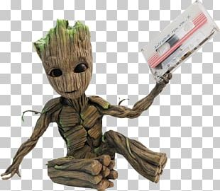 Baby Groot Star-Lord Rocket Raccoon Compact Cassette PNG