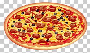 Pizza Italian Cuisine Salami PNG