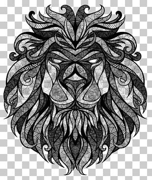 Drawing Artist Lion PNG