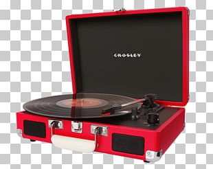 Phonograph Record Crosley CR8005A-TU Cruiser Turntable Turquoise Vinyl Portable Record Player Sound PNG