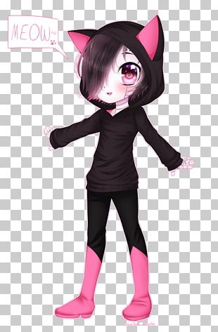 Black Hair Costume Pink M Character PNG