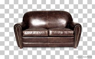 Club Chair Couch Leather Flea Market PNG