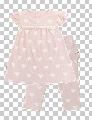 Polka Dot Shoulder Sleeve Dress PNG