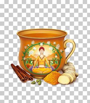 Masala Chai Green Tea Milk Latte PNG