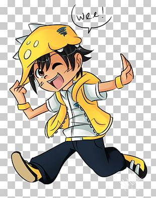 Drawing BoBoiBoy Taufan Animation PNG