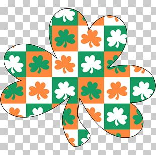 Ireland Shamrock Saint Patrick's Day Tray PNG