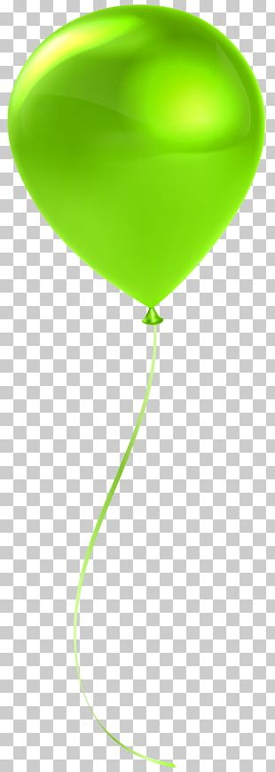 Green Balloon Pink Heart PNG