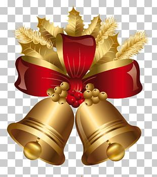 Christmas Decoration Jingle Bell Gold PNG