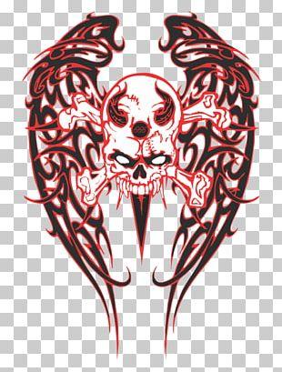 Skull Bone Art Tattoo Drawing PNG