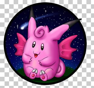 Cartoon Animal Pink M Character Space PNG