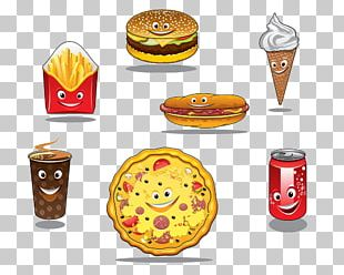 Fast Food Take-out Hamburger Hot Dog French Fries PNG