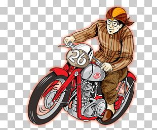 Motorcycle Caricature Motor Vehicle PNG