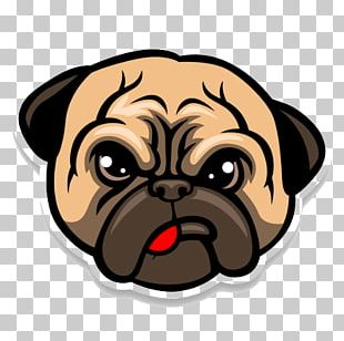 Pug Bulldog Puppy Cartoon PNG