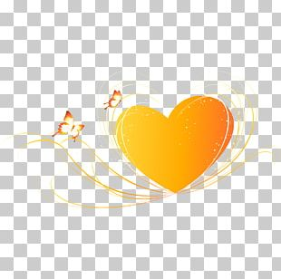 Yellow Heart Illustration PNG