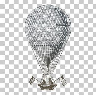 Paper Hot Air Balloon Drawing PNG