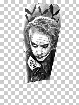 Joker Batman The Dark Knight Heath Ledger Tattoo PNG