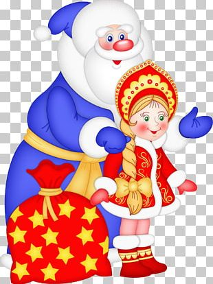 Ded Moroz Snegurochka New Year Tree Grandfather Holiday PNG